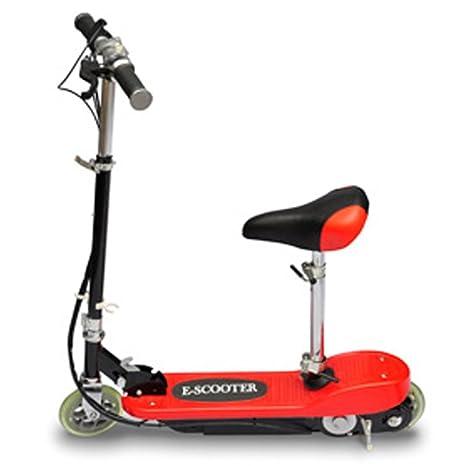 Festnight Patinete Scooter Eléctrico con Asiento 120W Color Rojo