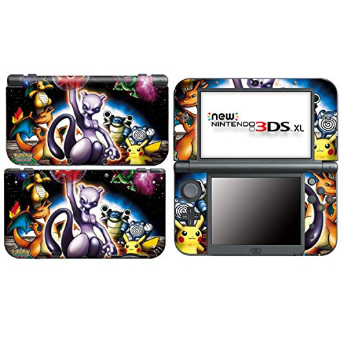 POKEMON WORLD Nintendo NEW 3DS XL, N3DS XL Vinyl Skin Decal Sticker + Screen Protectors Nintendo 3ds Skin