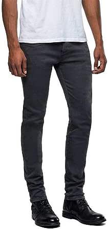 REPLAY Anbass Pantalón Vaquero Hyperflex para Hombre Denim Jeans elásticos Cintura Regular, Tallas: 27-40