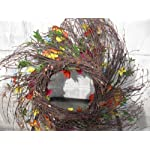 Your-Hearts-Delight-Red-Poppy-and-Orange-Pansy-with-Butterfly-Wreath-22-Inch