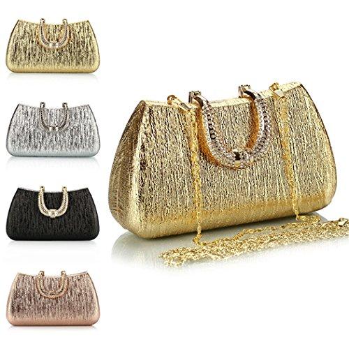 Bolso de Noche, Fanspack Bolso de Embrague Bolso de Boda Bolsa de Diseño de Diseño Messenger para Las Mujeres Silver