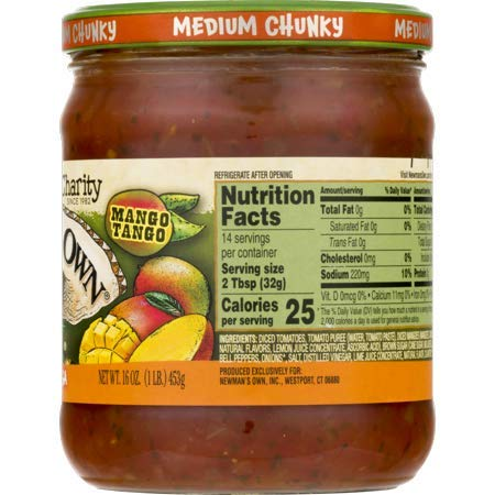 Newman's Own: Mango Medium Salsa, 16 oz - 5 Pack by Newman's Own: (Image #2)
