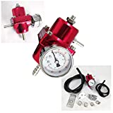 Rev9Power Rev9_AC-007-RED; Fuel Pressure Regulator With Gauge(Red) by Rev9Power