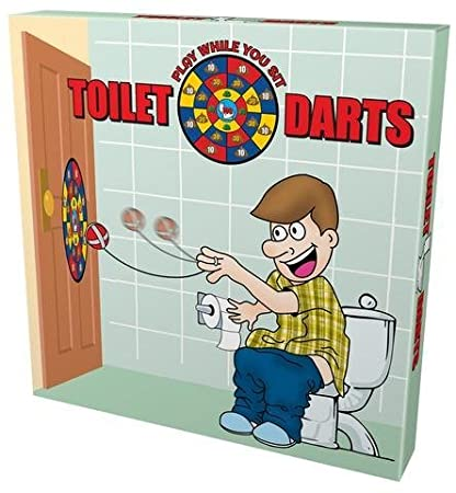 Amazon Com Island Dogs Toilet Darts Play While You Sit Toys Games
