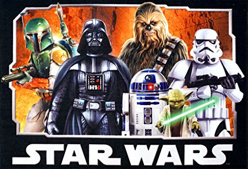 Star Wars Rug HD Digital ep 5 Darth Vader, Yoda, Chewbacca, R2D2 Kids Bedding Wall Decals Area Rugs 5x7, XL