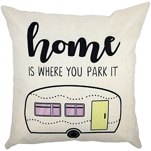 Arundeal Home Is Where You Park It Van 18 x 18 Inch Cotton L