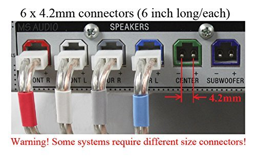 6c 4.2mm speaker cable/wire plug/connectors made for Select