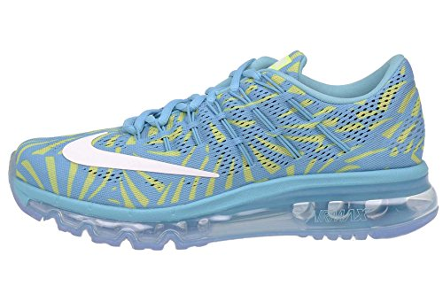 Nike Women's Air Max Running Shoes Sneakers (US 8, Gamma Blue/White/Ghost Green)