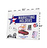 Marketing Holders Lot of 20 - 11'' X 8.5'' Economy Wall Mount Sign Holders with Screw Holes (Landscape)