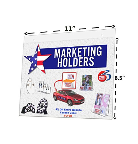 Marketing Holders Lot of 20 - 11'' X 8.5'' Economy Wall Mount Sign Holders with Screw Holes (Landscape) by Marketing Holders