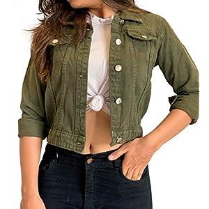 Shocknshop Women's Solid Denim Jacket