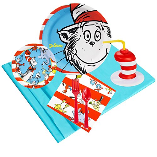 Dr Seuss Costumes Lorax (Dr Seuss Cat in the Hat Party Supplies Pack with Favor Cups (16))