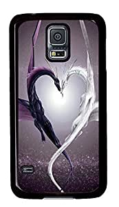 Samsung S5 case water proof Cute Dragon Love PC Black Custom Samsung Galaxy S5 Case Cover