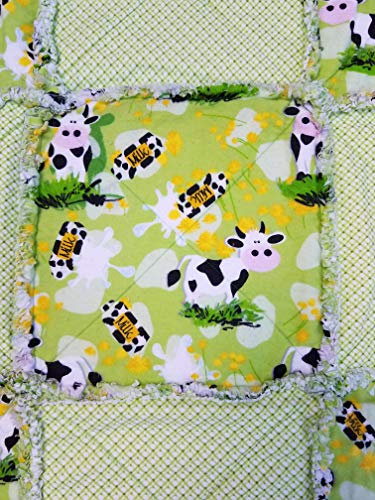 Infant Baby Cow Receiving Rag Quilt