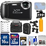 Fujifilm FinePix XP130 Shock & Waterproof Wi-Fi Digital Camera (Silver) with 32GB Card + Battery + Cases + Dive Light + Buoy Handle + Bike Mount + Kit