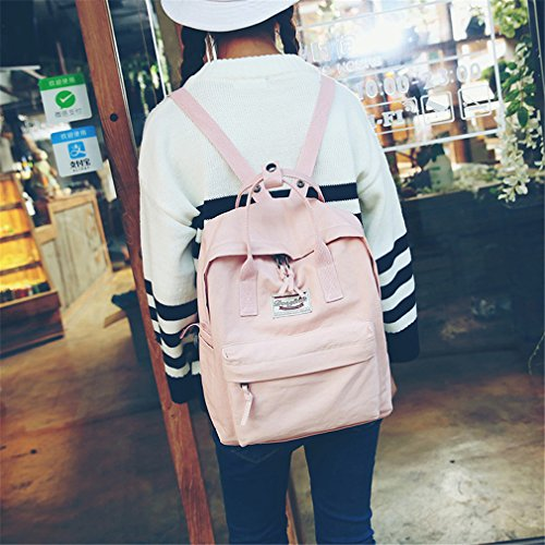 Backpacks L28cm W10cm Bags New School Canvas Women Pink Backpack Red H34cm PZHgpqnH