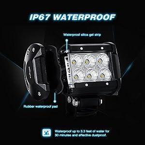 """Nilight Led Light Bar 2PCS 18w 4"""" Flood Driving Fog Light Led Pods Off Road Lighting for SUV UTE ATV Truck 4x4 Boat,2 years Warranty"""