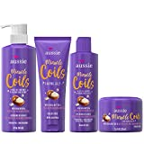 Aussie Miracle Coils Collection, Shampoo, Conditioner, Shaping Jelly & Stretching Cream, For Curly Hair, Made with Australian Macadamia Nut Oil, Sulfate & Paraben Free