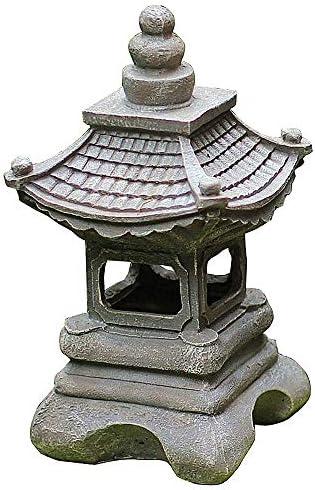 zenggp Estilo Japonés Solar Zen Jardín Luces Linterna Pagoda Luz Solar Jardín Lámpara Estatua: Amazon.es: Hogar