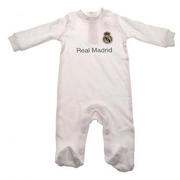 Real Madrid CF bebé Pelele oficial de fútbol regalo (3 - 6 meses) - una gran Navidad/regalo Idea para bebés: Amazon.es: Deportes y aire libre