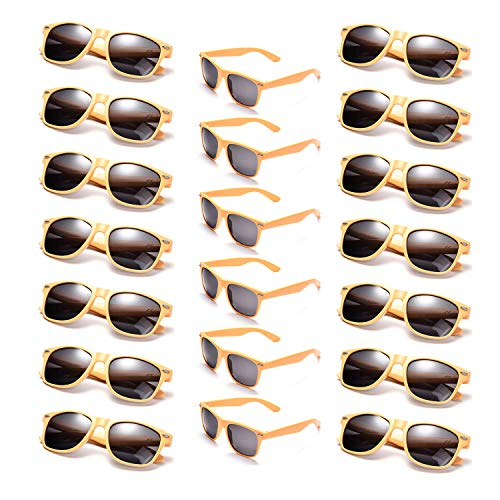 Onnea Wholesale Multi Pack Unisex 80'S Retro Vintage Style Promotional Sunglasses for Party Supplies -