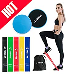 Perfect Bundle deal for gifting/self-use - Thirty48 Resistance Bands + Core Sliders can be used at home, gym, and travel.