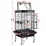 68'' Bird Cage Large Play Top Parrot Finch Cage Macaw Cockatoo Pet Supply