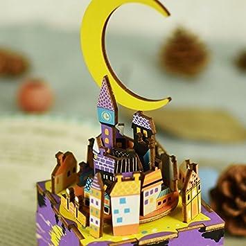 Midsummer Night/'s Dream Rolife Hand Crank Music Box Machinarium-DIY Wood Craft Kit-3d Wooden Puzzle-Creative Gift for Boys and Girls When Christmas//Birthday//Valentines Day