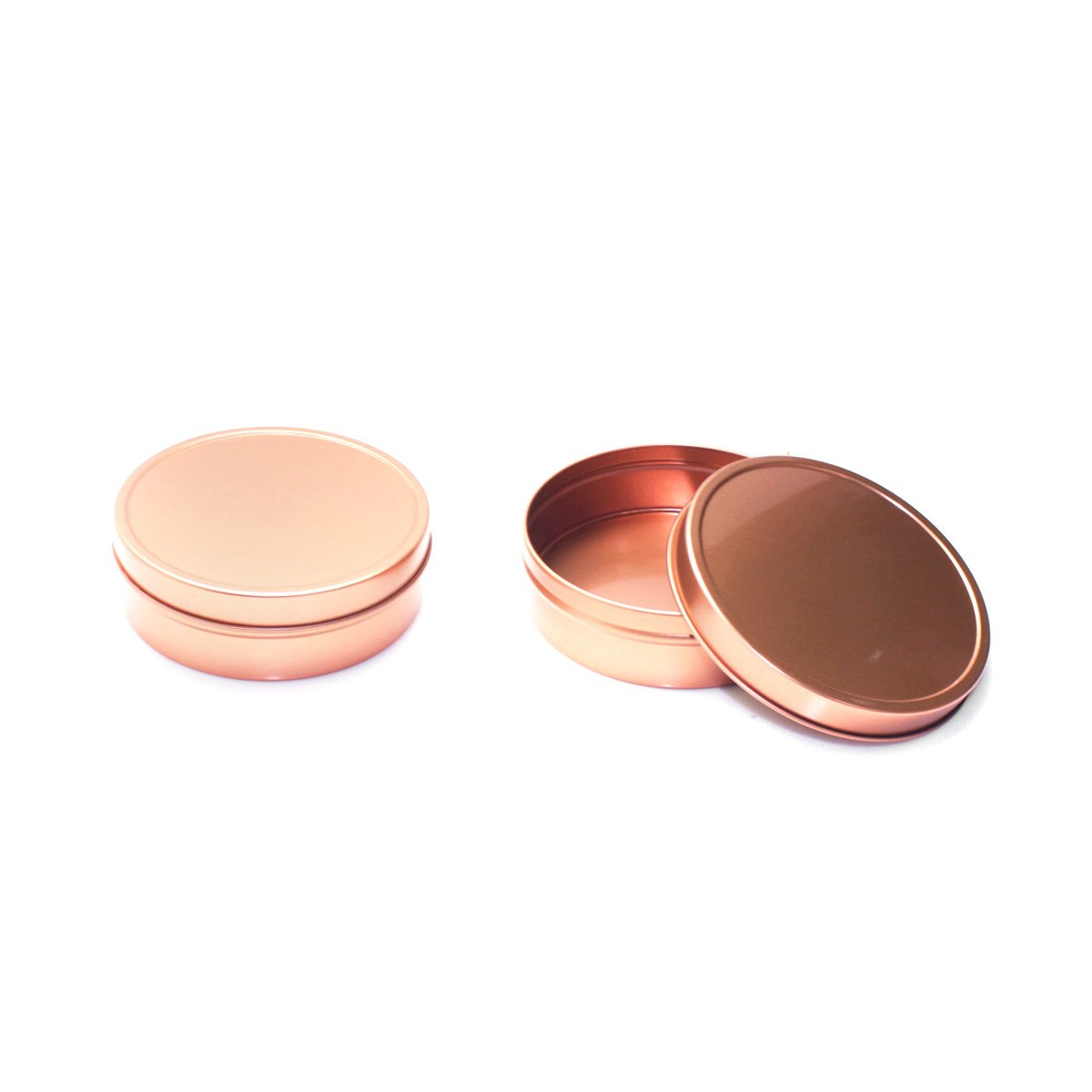 Mimi Pack ALL Shallow Solid Slip Top Tins (8 oz, Rose Gold) by Mimi Pack (Image #6)