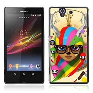 Designer Depo Hard Protection Case for Sony Xperia Z L36H / Colorful Cute
