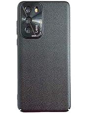 NiaCoCo Compatible con Huawei P40 PC Hard Shell Ultradelgado Resistente a los Arañazos Carcasa de Telefono Estuche Protector+1PCS Protector de Pantalla - (Negro)