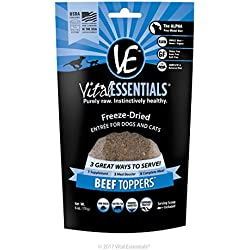 Vital Essentials Freeze-Dried Beef Toppers, 6 oz