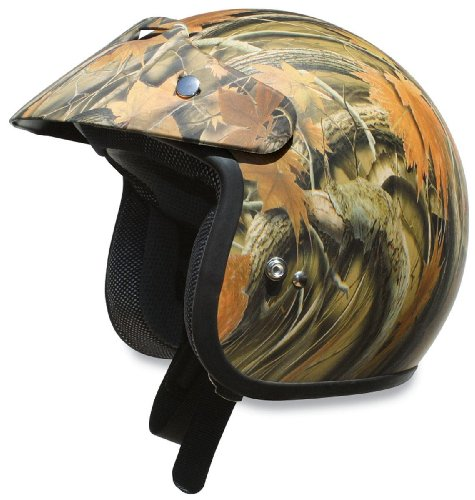 AFX FX-75 Camo Youth Helmet , Size: Lg, Size Segment: Youth, Primary Color: Brown, Distinct Name: Camo, Helmet Category: Street, Helmet Type: Open-face Helmets, Gender: Boys 01050019