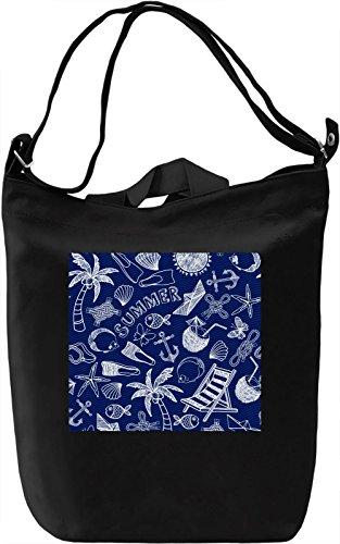 Summer Pattern Borsa Giornaliera Canvas Canvas Day Bag| 100% Premium Cotton Canvas| DTG Printing|