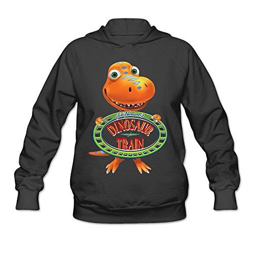 Mrs Pteranodon Costume (Boxer98 Women's Hooded Sweatshirt Cartoon Cute Dinosaur Size XL Black)