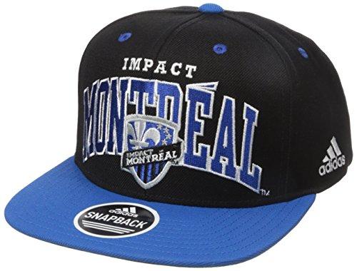 MLS Montreal Impact Men's Large Name Two-Tone Flat Brim Snapback, One Size, Blue