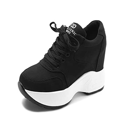52a850317394b Amazon.com: DOSOMI Women Sneakers Mesh Platform Trainers 10CM Heels ...