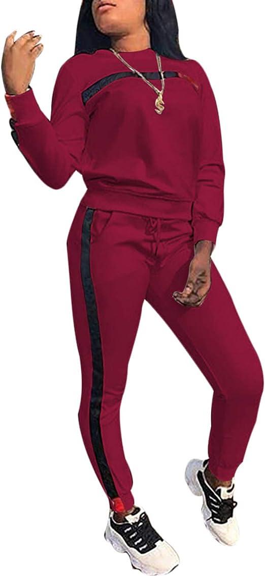 motif lettres imprim/ées col cagoule sweat-shirt et pantalon long moulant Surv/êtement deux pi/èces pour femmes