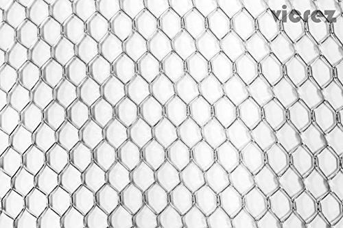 Vicrez Universal Standard Bumper Wire Diamond Silver Mesh Grill Sheet (Multiple Sizes) vz100317-1 (49 x 12)