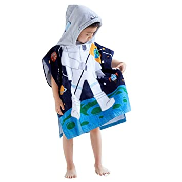 "100/% Cotton Super Soft and Absorbent 50/""x30 Oversize Bath//Beach//Swimming//Bathrobe Cloak for Baby Kids Pirate Ship InsHere Pirate Hooded Towel for Toddlers Under Age 7"