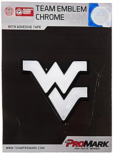 NCAA West Virginia Mountaineers Chrome Automobile Emblem