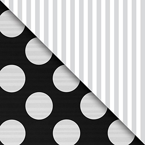 JAM Paper® Industrial Size Bulk Wrapping Paper Rolls - Two-Sided Black & Silver - 1/4 Ream (520 Sq Ft) - Sold Individually by JAM Paper