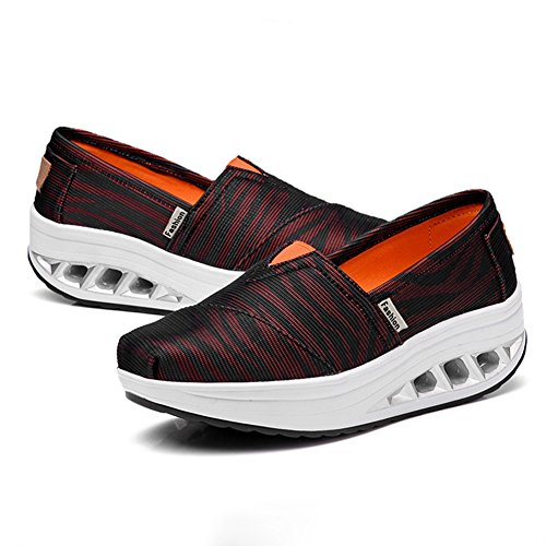 CYBLING Wedge Casual Exercise Sneakers Breathable Comfort Walking Tennis Shoes For Women PgL416HwnV