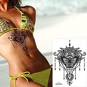 tzxdbh 3Pcs-Lady Tatuaje Pecho Cuerpo Espalda Tatuaje Pegatina ...