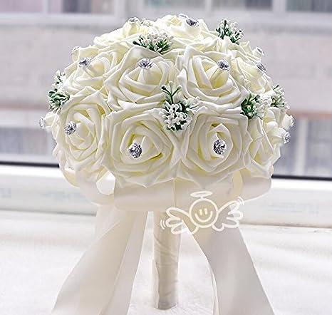 Bouquet Sposa Wikipedia.Amazon Com 23pcs European And American Wedding Bride Bridesmaids