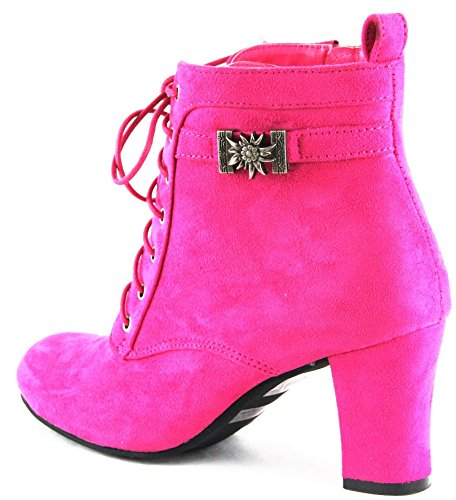 Kogel Ankle 2069 High Shoes Pink Boots Hirsch Hirschkogel Costume Heels IwF5vPq