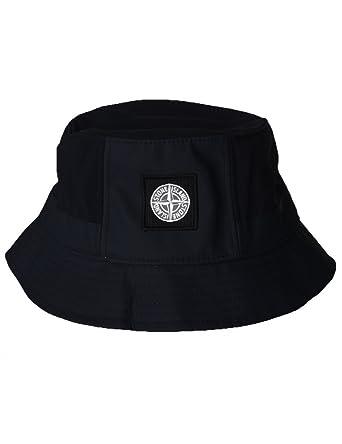0505529b2da Stone Island - Black hat Bucket hat Fisher Cap hat - L