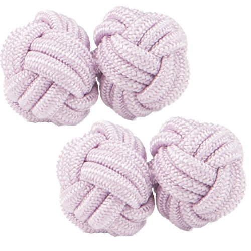 Lavender Pink Silk Knot Cufflinks | Cuffs & Co