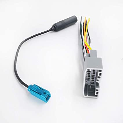 davitu car radio wiring harness wire fakra adapter reversing parking rh amazon com