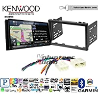 Volunteer Audio Kenwood DNX874S Double Din Radio Install Kit with GPS Navigation Apple CarPlay Android Auto Fits 1998-2000 Mazda 626